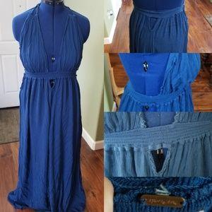 Freepeople royal blue halter maxi dress